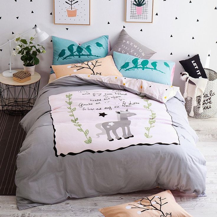 cheap colored bed sheets buy quality bedding sets queen directly from china grey duvet cover suppliers cute grey unicorn cartoon bedding set queen twin