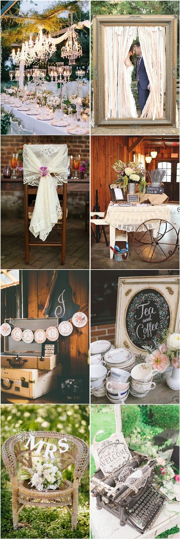 chic vintage wedding decor ideas / http://www.deerpearlflowers.com/vintage-wedding-ideas-for-spring-summer-weddings/