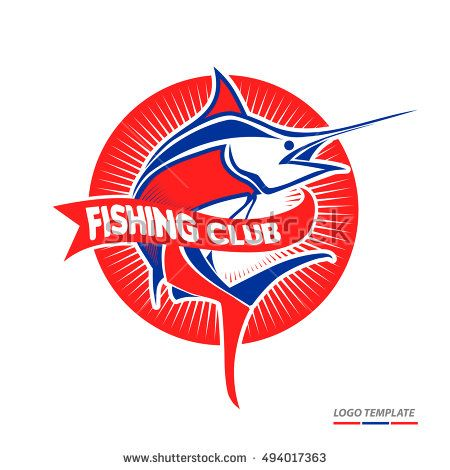 Fish logo template. You can use for Fishing Club, Sailing Shop, Marine Company and Restaurant. Vector Illustration. Eps.10
