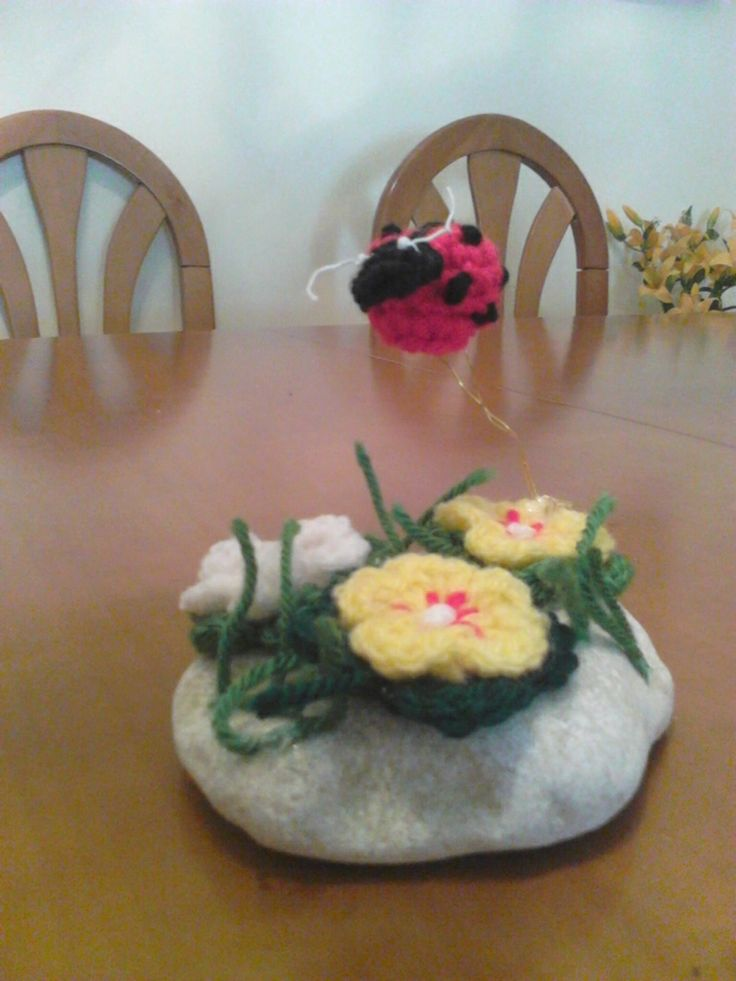 Ladybug and flowers