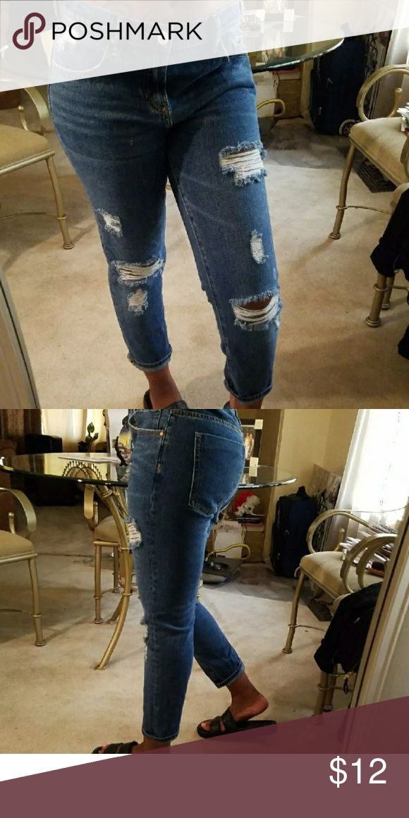 Women Boyfriend jeans Size 28 brand is Pacsun great condition and so comfy PacSun Jeans