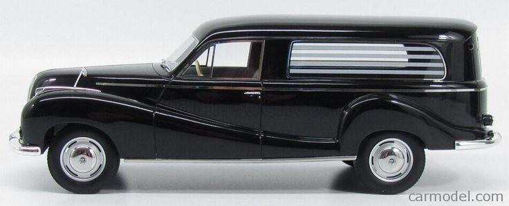 SCHUCO 0078 Scale 1/18 BMW 502 BESTATTUNGSWAGEN 1960 - CARRO FUNEBRE - HEARSE - FUNERAL CAR BLACK