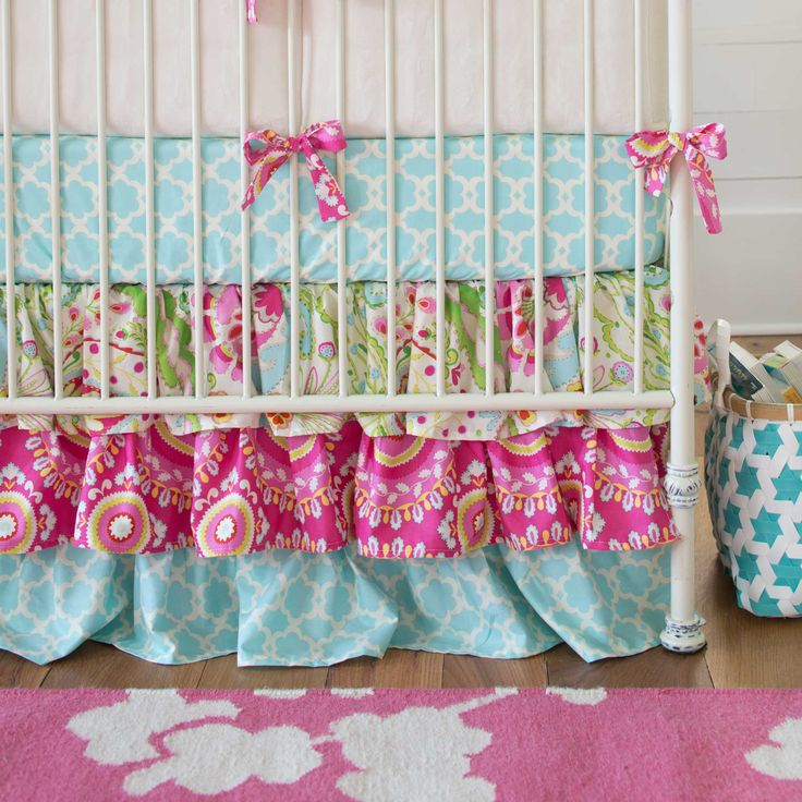 Kumari Garden Crib Bedding | Girl Nursery Bedding | Carousel Designs