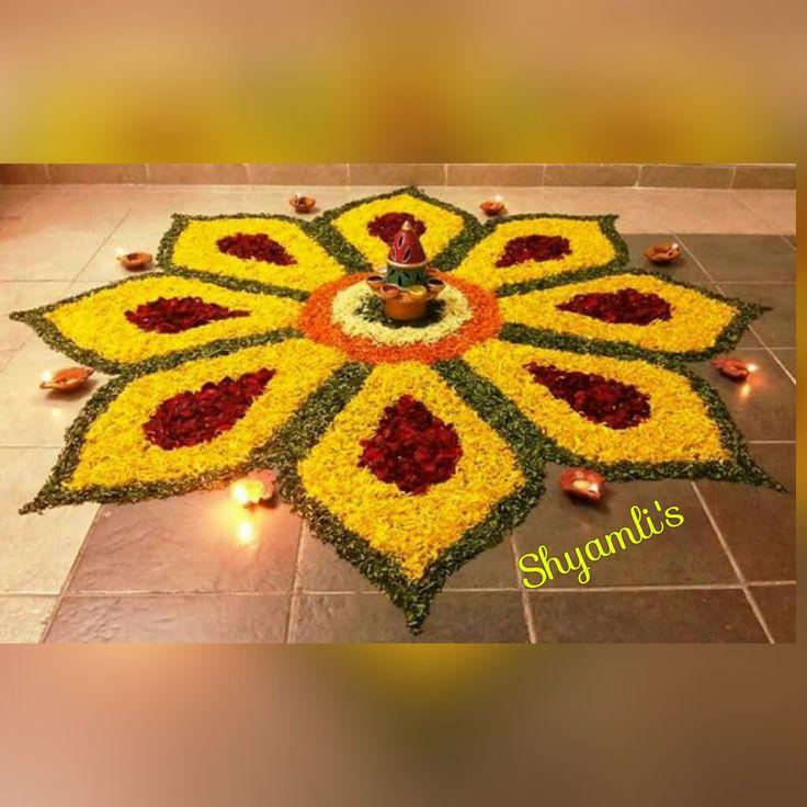 17 Best ideas about Flower Rangoli on