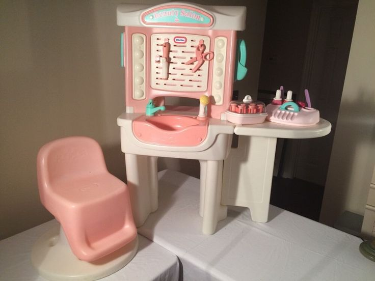 Vintage Little Tikes Beauty Salon w Accessories Chair  eBay  90s ...