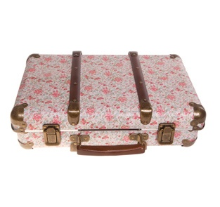 Floral suitcase... Use on display but use for jewellery etc
