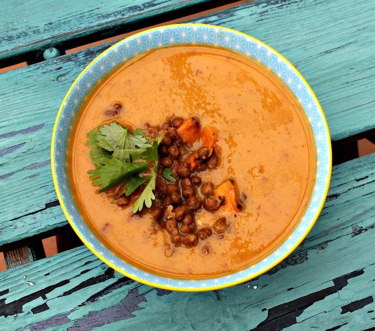 Linse og søde kartofler suppe
