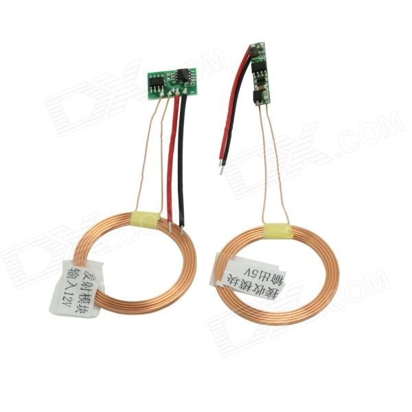 TENYING DIY Wireless Charging Transmitter + Receiver Solution Module - Green + Golden (DC 5~12V). Adopts two copper wire coil superposition to active the wireless charging module; Safe and stable electric circuit design; Great for you to DIY a wireless charger. Tags: #Electrical #Tools #Arduino #SCM #Supplies #Transmitters #Receivers