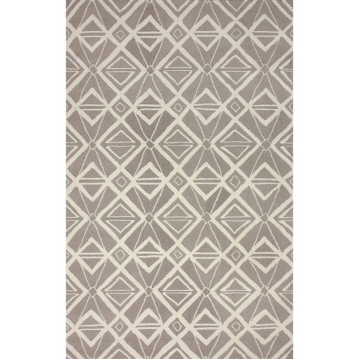 Anchor Your Living Room Or Define A E In Master Suite With This Hand Hooked Rug Showcasing Geometric Motif Grey