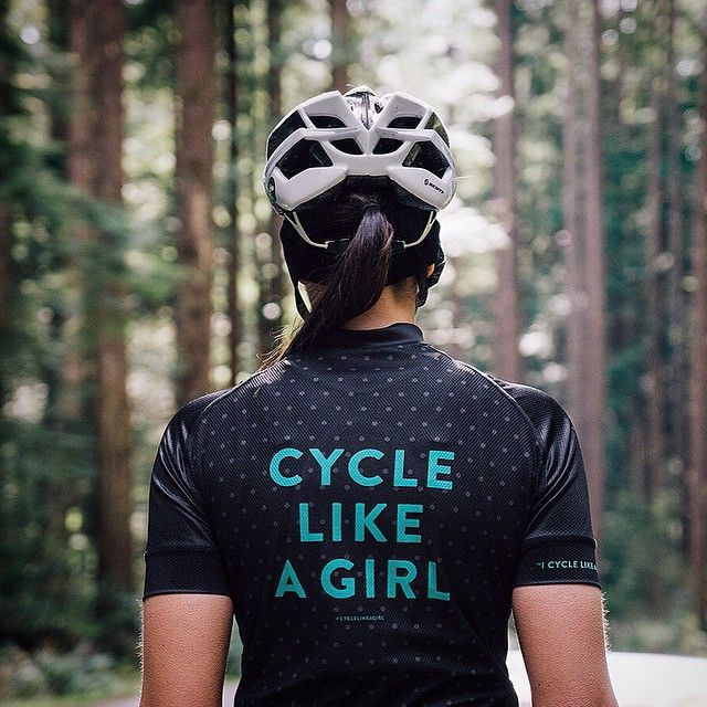 """I cycle like a girl, try to keep up"" - on the sleeve of our new jersey! #spreadingtheword #cyclelikegirl #ride"