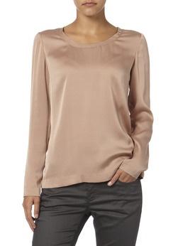 Tuniekblouse van zijde ~ mooi! Natuurlijke kleding die niet statisch is is ook belangrijk om migraine te voorkomen.