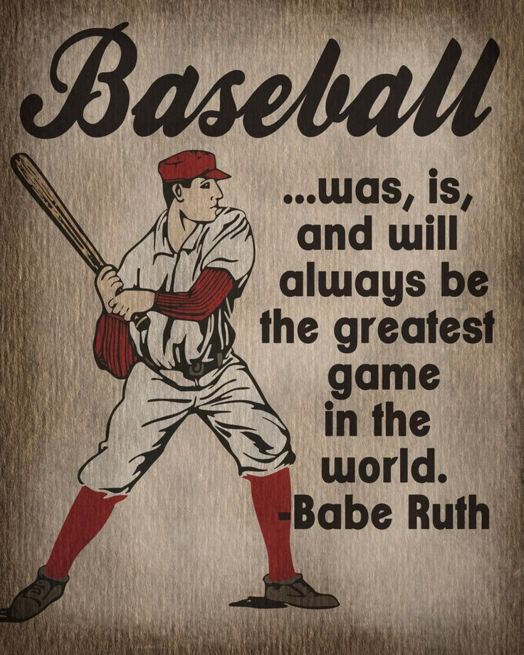 Vintage Baseball Art Print Kids Room Decor By Lexiphilia The Babe Was Spot On