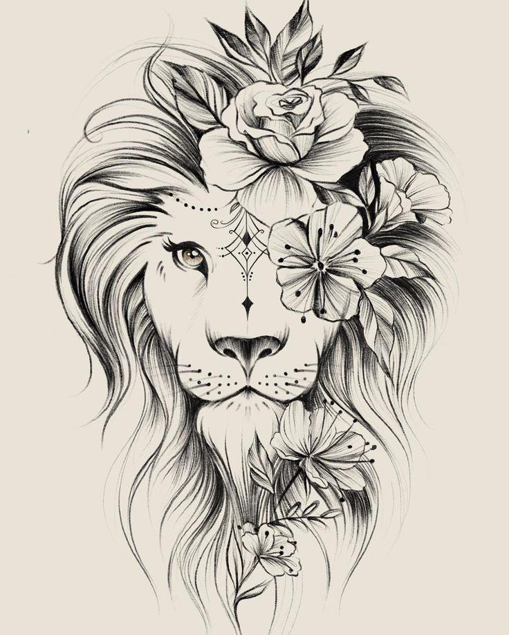 Bild könnte enthalten: Zeichnung – Blumen Tattoos –