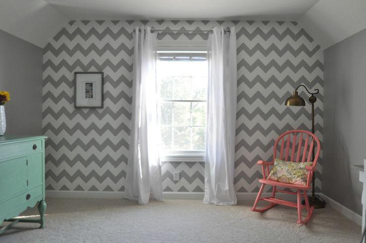 Aliexpress.com : Buy Gray Chevron Wallpaper Grey Geometric ...  |Chevron Gray Green Walls