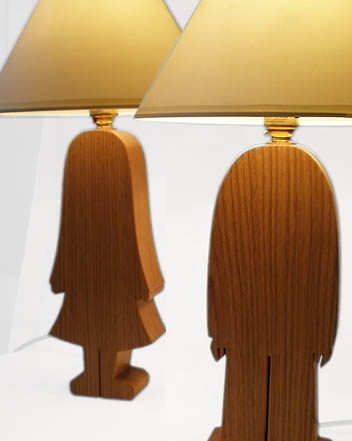 His and Hers Lamps   Oak