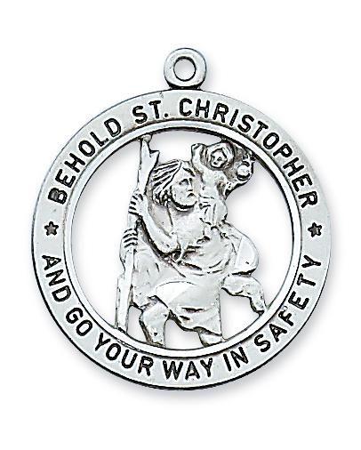 STERLING SILVER ST CHRISTOPHER MEDAL - L2514