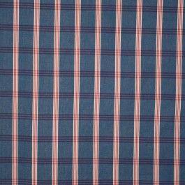 denim blauw met rood geruit meubel canvaskatoen