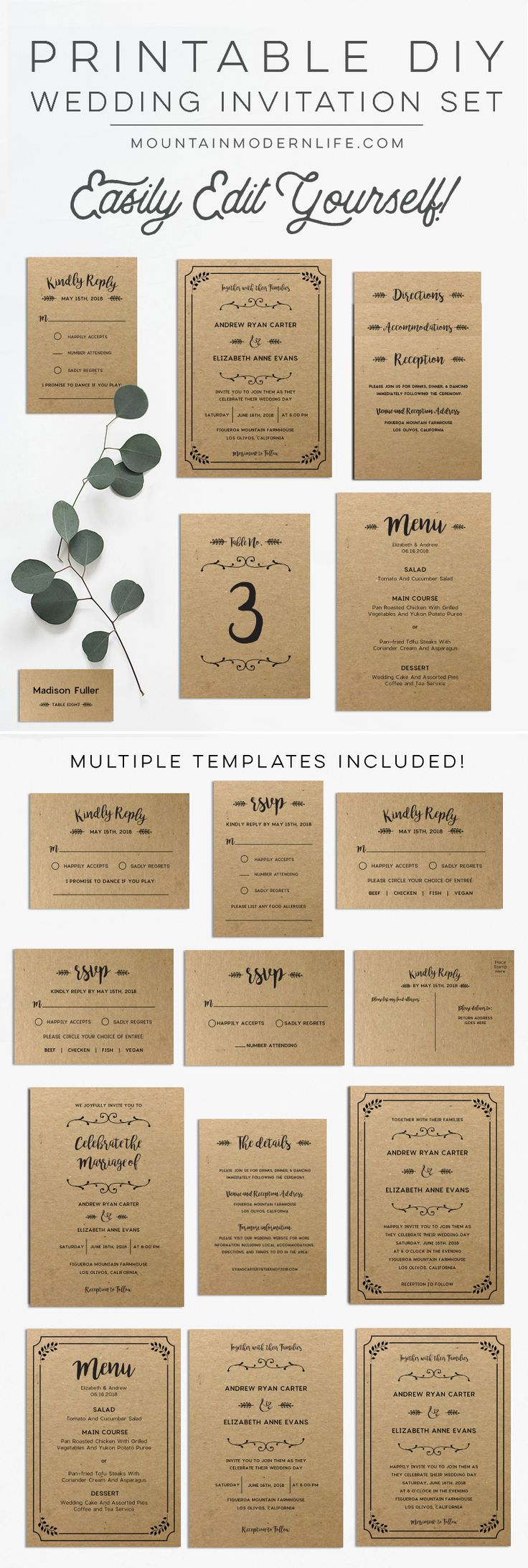 25 best ideas about diy wedding invitations templates on