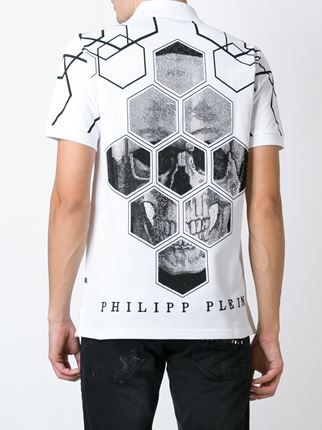 Philipp Plein polo con estampado geométrico