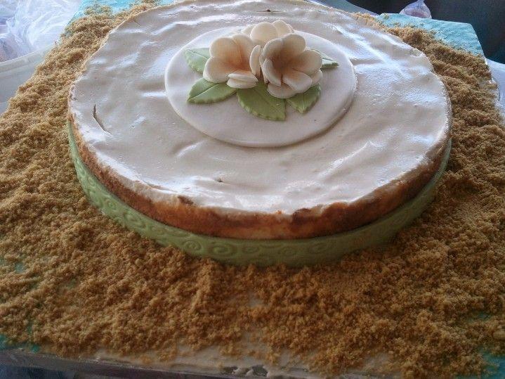 White Chocolate Cheesecake - Beach Theme