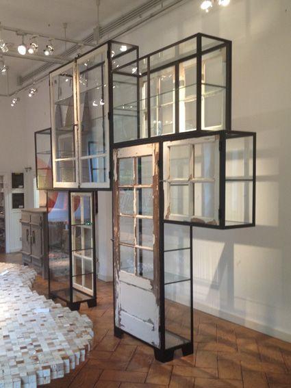 piet hein eek old window steel cabinet