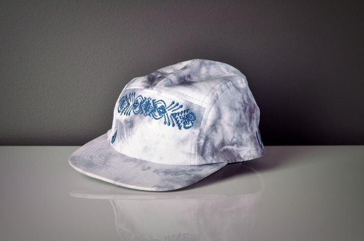 Purple Tie Dye Five Panel Cap
