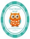 Owl Word Wall product from MiTeacher-Girl-Store on TeachersNotebook.com