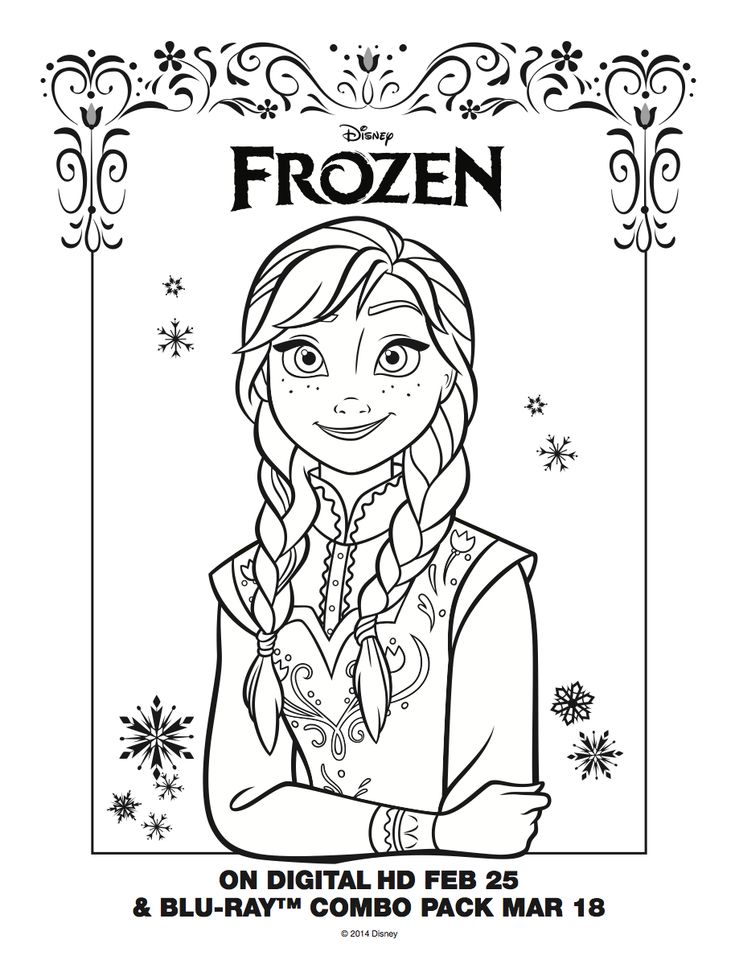 Anna Coloring Sheet  FrozenYoung Anna Frozen Coloring Page