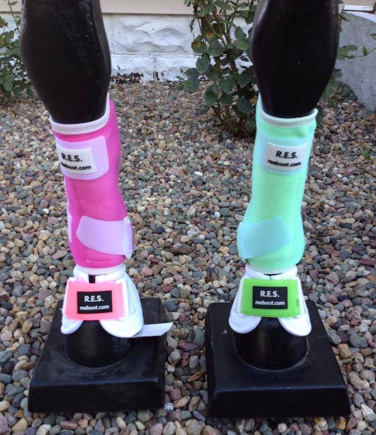 RES Sports & Bell boots. Custom dyed Pink and lime green