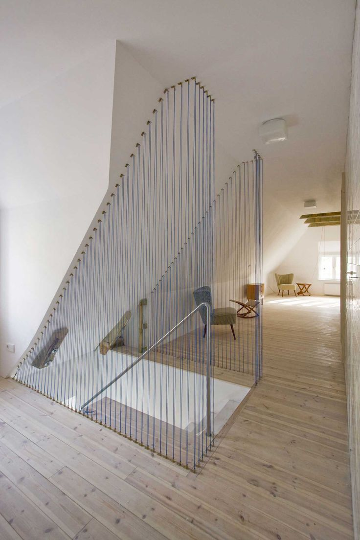 Staircase Simple Modern House Design with Cable Wire Railings | Yellowtrace