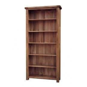 Rustic Solid Oak SRDK50 6FT Bookcase www.easyfurn.co.uk