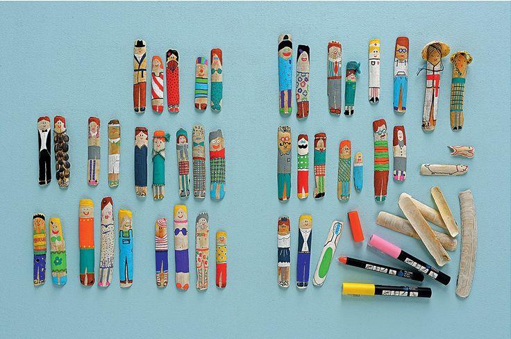 Bricolage facile pour enfant: familles couteaux