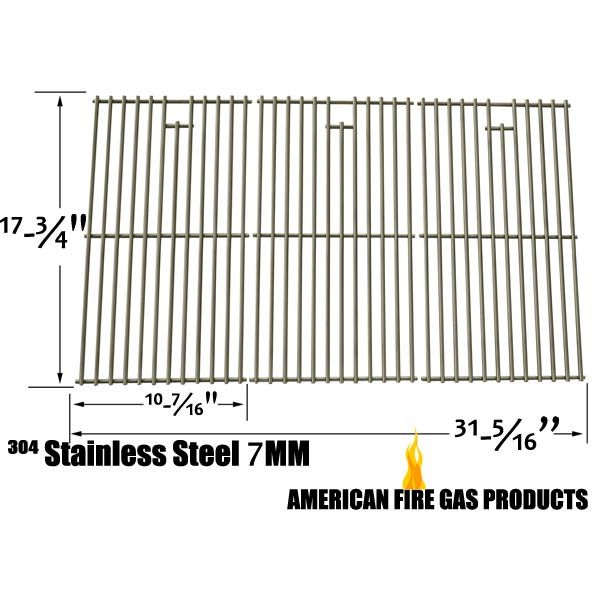 3 PACK STAINLESS STEEL REPLACEMENT COOKING GRID FOR LOWES, KENMORE, MASTER CHEF, MASTER FORGE GAS GRILL MODELS Fits Compatible Lowes Models : 3218LT, E3518-LP, MFJ576DNC, SLG2006C, SLG2007D