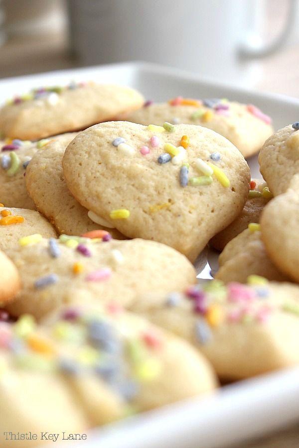 Lemon Sour Cream Pressed Cookie Recipe In 2020 Cookie Recipes Lemon Squares Recipe Cookie Press Recipes