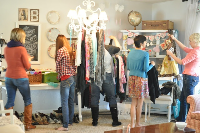 Check out this clothing swap that Domestic Fashionista hosted. Awesome idea!
