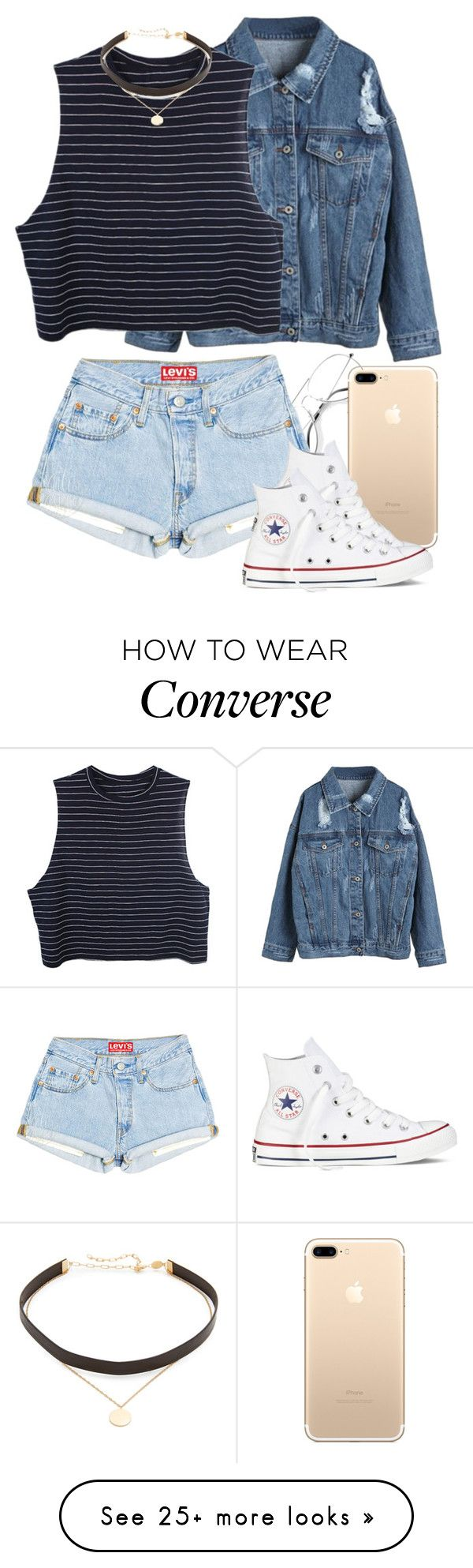 """Untitled #1268"" by natalia-viana-gtl on Polyvore featuring WithChic, Converse and Jennifer Zeuner"