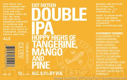 mybeerbuzz.com - Bringing Good Beers & Good People Together...: Flying Fish - Exit 16 Double IPA