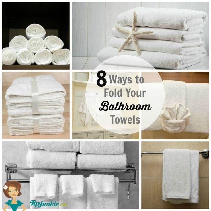 M s de 1000 im genes sobre the organized home en pinterest for Bathroom towel folding designs