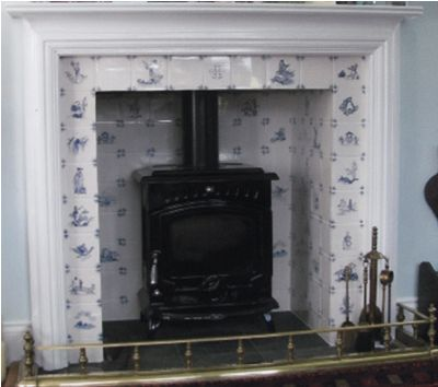 Delft Tile Fireplace Surround Handmade Tiles Can Be Colour Coordinated And Customized Re Shape Dining Room