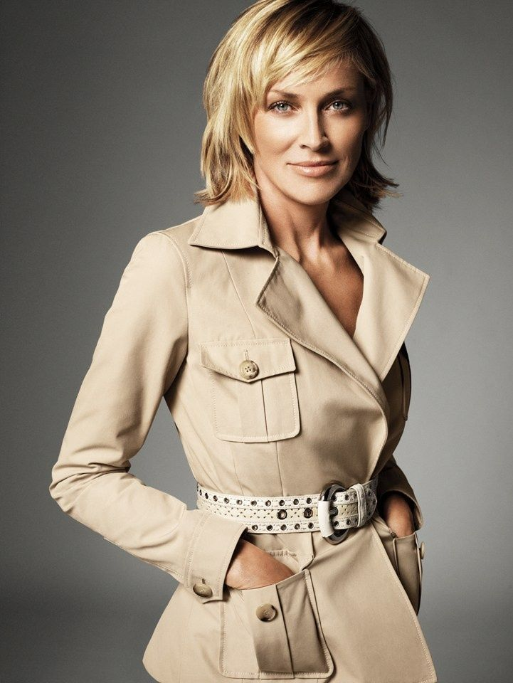 sharon stone always dresses so nice!  Perfect for work!