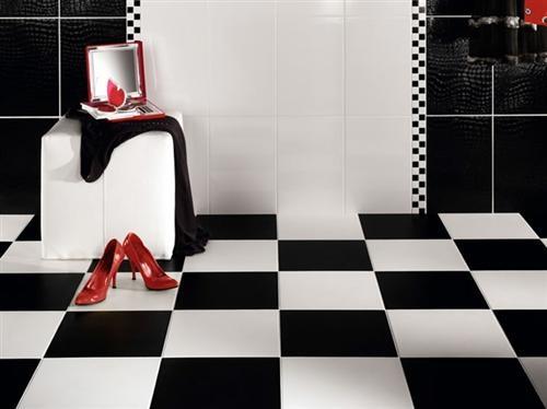 78 best Black and white floor tiles images on Pinterest Room