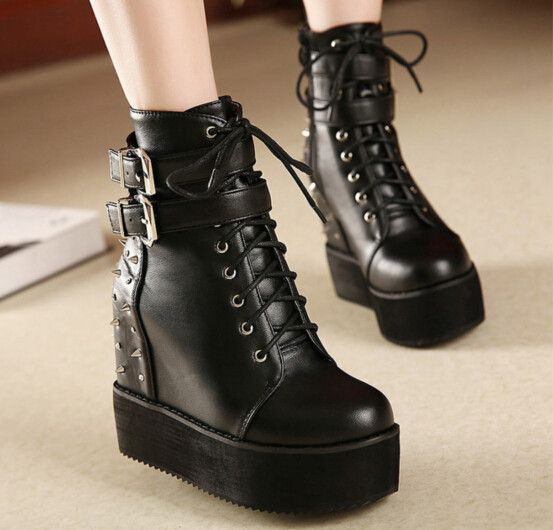 "Fashionable harajuku riveting high-heeled boots Cute Kawaii Harajuku Fashion Clothing & Accessories Website. Sponsorship Review & Affiliate Program opening #best#christmas#gift for you cool boots use this coupon code ""pinscute"" to get all 10% off shop now for lowest price."