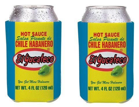 El Yucateco Label Can Cooler (Set of 2) – El Yucateco Gear Shop
