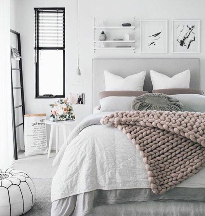1001 conseils et id es pour une chambre en rose et gris sublime chambre coucher pinterest. Black Bedroom Furniture Sets. Home Design Ideas