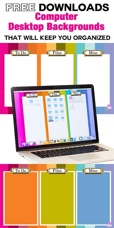 Computer organization. Free downloadable desktop organizing backgrounds that…