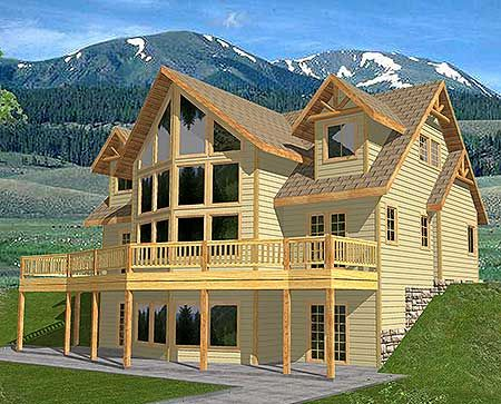 Great Views - 35108GH | Mountain, Northwest, Vacation, Metric, Photo Gallery, 1st Floor Master Suite, CAD Available, Loft, PDF, Wrap Around Porch, Sloping Lot | Architectural Designs