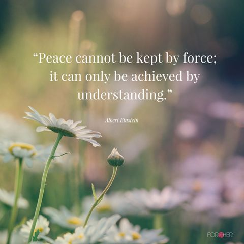 """""""Peace cannot be kept by force; it can only be achieved by understanding"""" Albert Einstein #Quotes"""