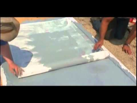 How to waterproof a plywood roof deck with Ames Research laboratory products.