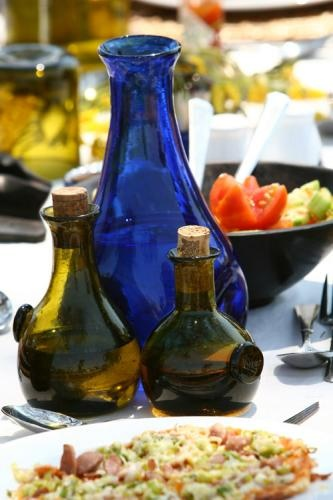 Colorful meals with artisanal blown #glass | Holidays in Tanzania | Mbali Mbali Lodges and Camps