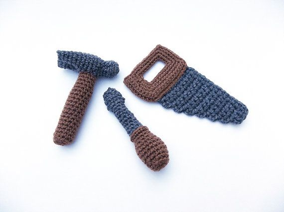 Crochet Tool Set, Toddler Toy Tool Set, Washable Soft Toy Tools